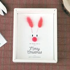 루돌프 크리스마스 드라이플라워 카드-라그라스