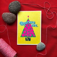 크리스마스 이브 트리 크리스마스 카드