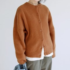 smooth round cardigan (2colors)_(1405284)