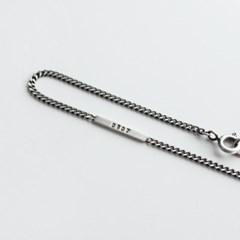 [무광,유화]Simple number bracelet(실버 각인 팔찌)[92.5 silver]