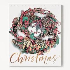 캔버스 인테리어 벽트리 천 트리 액자 크리스마스 리스