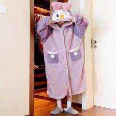 핑크덕 덤블 캐릭터 후드 파자마 원피스(mops1354)_(1771468)