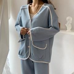 노카라 누빔 잠옷 겨울홈웨어