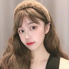 캐시 뽀글 컬러풀 머리띠 헤어밴드_(2286790)