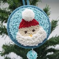 크리스마스 산타클로스 펀치니들 키트