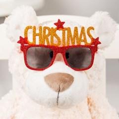 크리스마스 글리터 파티안경 [레드]_(11901915)