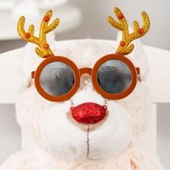 루돌프 빨간코 안경 [글리터 브라운]_(11901918)