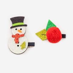 크리스마스 머리핀세트 [눈사람+열매]_(11902215)
