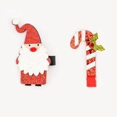 크리스마스 머리핀세트 [산타+지팡이]_(11902216)