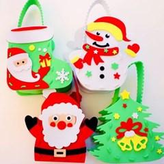 크리스마스 사탕바구니 만들기 4개 1세트 (눈사람과산타_(301768303)