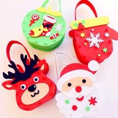 크리스마스 사탕바구니 만들기 4개 1세트 (루돌프와산타_(301768304)