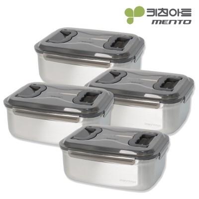 키친아트 멘토 김치통 4호(7L) 김장밀폐용기 4종세트