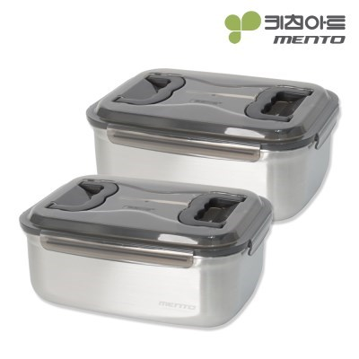 키친아트 멘토 김치통 4호(7L) 김장밀폐용기 2종세트