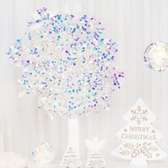크리스마스 모루 2m [홀로그램 화이트]_(11902467)