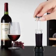 블랙 와인 펌프스토퍼 1개