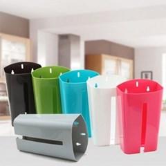 다용도 비닐봉투 보관홀더 1개(색상랜덤)