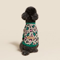 [ODD STUDIO] 레오파드 스웨터 - 그린