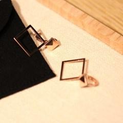 14k 마름모 원터치 귀걸이