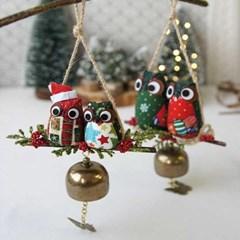 크리스마스 부엉이 도어벨 (2size)_(1815004)