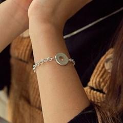 silver donut bracelet