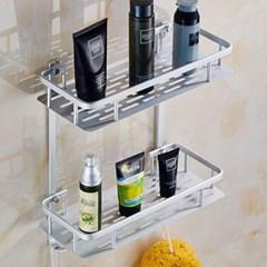 알루미늄 2단 욕실 사각선반 1개