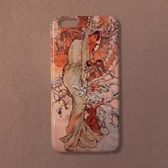 [유광]알폰스 무하 사계 겨울 명화 휴대폰 케이스