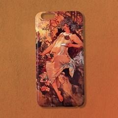 [유광]알폰스 무하 사계 가을 명화 휴대폰 케이스