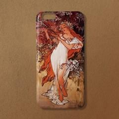 [유광]알폰스 무하 사계 봄 명화 휴대폰 케이스