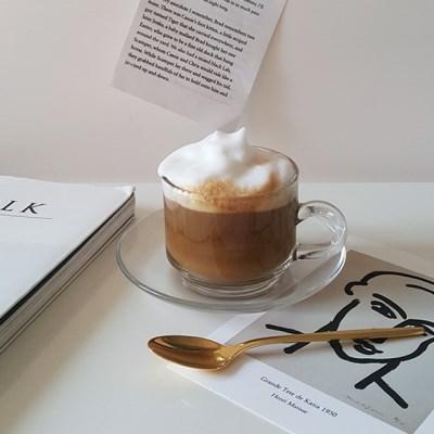 레트로 스텍 유리잔세트(180ml) 커피잔세트