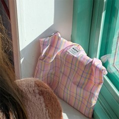 VINTAGE CHECK MINI BAG(PINK)