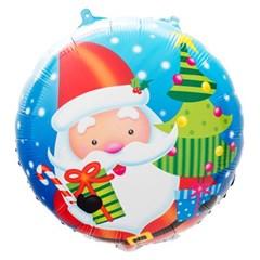 [원팩] 크리스마스 은박풍선 18인치 라운드 산타위드트_(11907872)