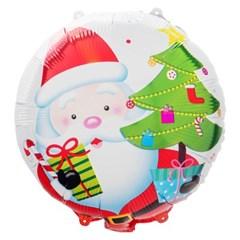 [원팩] 크리스마스 은박풍선 18인치 라운드 산타위드트_(11907871)