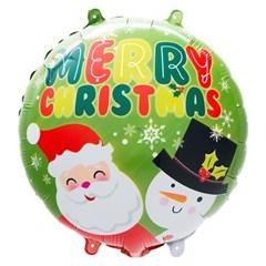 [원팩] 크리스마스 은박풍선 18인치 라운드 산타와 눈사_(11907870)