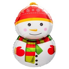 [원팩] 크리스마스 은박풍선 빨간모자눈사람 48x80cm_(11907865)