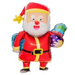 [원팩] 크리스마스 은박풍선 산타선물꾸러미 73x93cm_(11907860)
