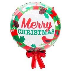 [원팩] 크리스마스 은박풍선 메리크리스마스 리본 50x65_(11907857)