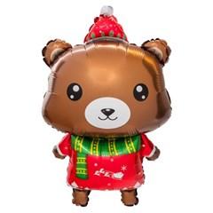 [원팩] 크리스마스 은박풍선 곰돌이산타 48x83cm_(11907854)