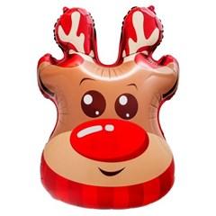 [원팩] 크리스마스 은박풍선 루돌프얼굴 48x71cm_(11907853)
