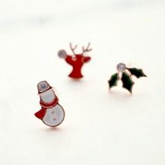 Christmas town earring