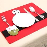 성탄절 크리스마스 펠트 테이블매트 식탁매트 1p
