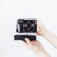 캐논 g7x mark2 mark3 카메라 케이스 넥스트랩 가방 파우치 블랙