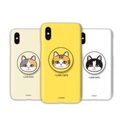 갤럭시A7 2018 (A750) TC-고양이얼굴 스마트톡 하드 케이스