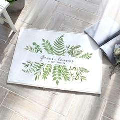바닥 발매트 신혼 60x40cm 그린리브즈_(1412398)