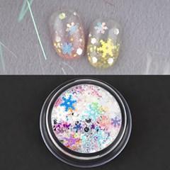 판타지 눈꽃 글리터(case) / 육각+눈꽃+가루글리터/크리스마스네일추