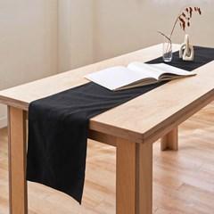 블랭크 블랙 광목 테이블러너 /  테이블보 (RM 256001)