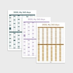 2020 My 365 Days Calendar (3 Colors)