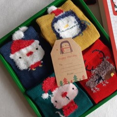 듀) 크리스마스 4종양말 상자