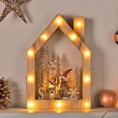 크리스마스 LED 목재하우스 스노우_(11910313)