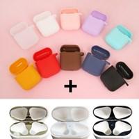 실리콘 에어팟 케이스+ 철가루방지 스티커(컬러선택)