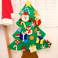 크리스마스 펠트 벽트리 만들기세트 (산타)_(301772668)